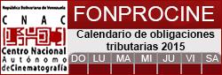 Calendario Fonprocine 2015