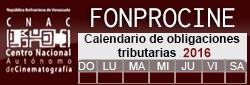 Calendario Fonprocine 2016